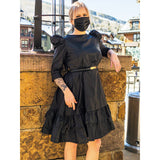 Black Bazin Bella Dress - Nganoh