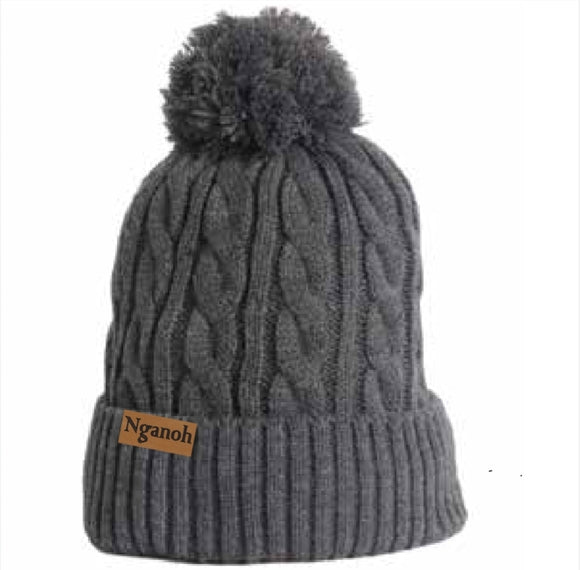 Mojo Cable Knit Beanie - Grey - Nganoh