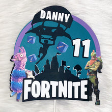 Load image into Gallery viewer, Fortnite Cake Topper | Personalized Cake Topper | Fortnite Party Supplies | Gamer Topper