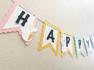Peeps Easter Garland | Happy Easter Banner | Bunny Party | Easter Party| Bunny Ears| Bunny Ears Cake Topper