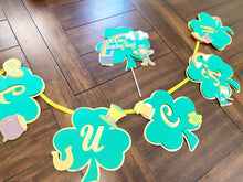 Load image into Gallery viewer, St. Patricks Day Banner |St. Patricks Day Cake Topper| St. Patricks Day Cake | Leprechaun Topper| Lucky Party Decor