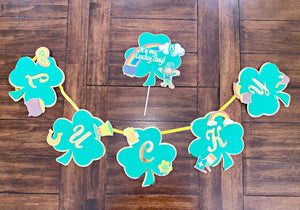 St. Patricks Day Banner |St. Patricks Day Cake Topper| St. Patricks Day Cake | Leprechaun Topper| Lucky Party Decor