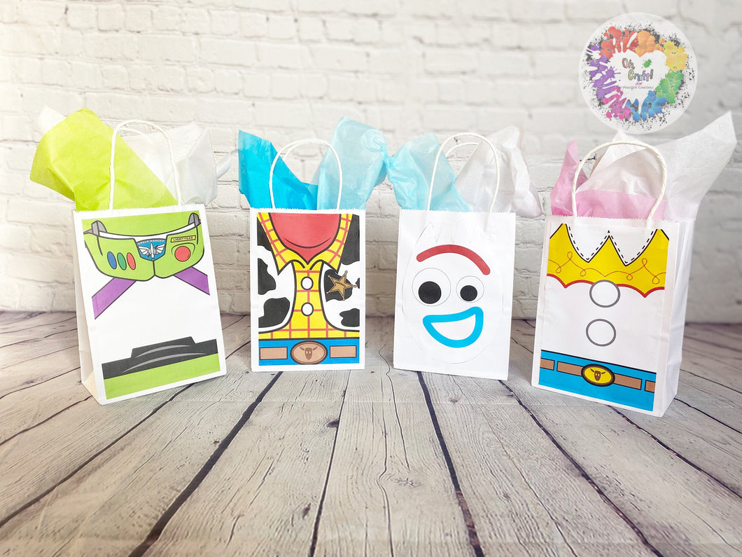 Toy Story Inspired | Goody Bags | Party Favors | Favor bags | Set of 12 | Buzz | Woody |