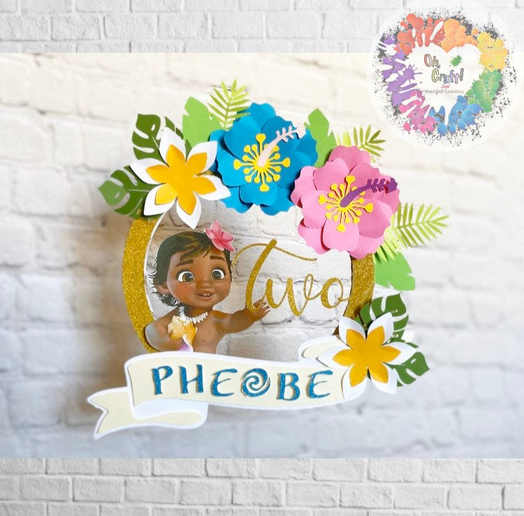 Baby Moana Cake Topper| Moana Cake Topper| Luau | Hawaiian Theme Cake Topper| Party Decor | Luau Birthday | Maui Party