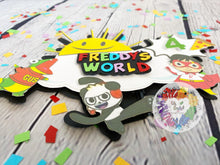 Load image into Gallery viewer, Ryan's World Inspired Cake Topper | Ryan's World Party Decor | Ryan's World Birthday Party | Ryan's World Party Decor