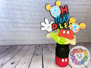Mickey Mouse Centerpieces | Mickey Mouse Birthday | Mickey Mouse Party | Mickey Mouse Baby Shower | Disney Baby Shower
