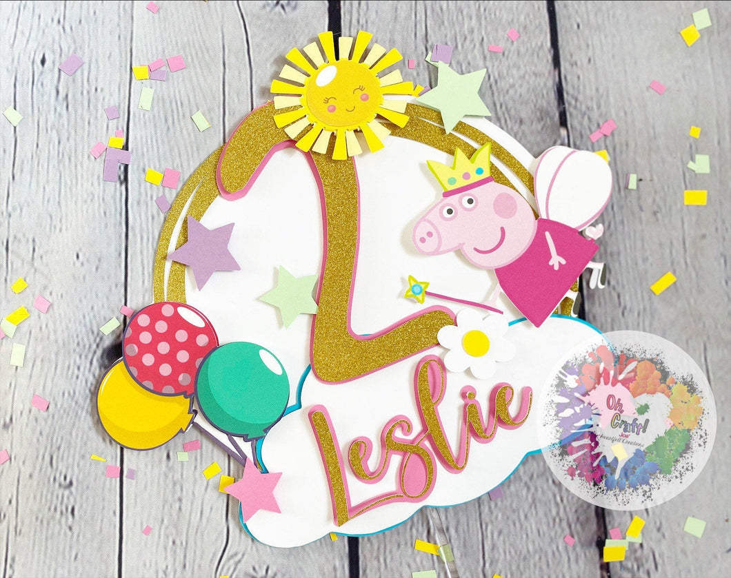 Peppa Pig Cake Topper | Peppa Pig Party Decor | Peppa Pig Birthday | Peppa Pig | Peppa Pig Party Decor |