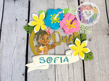 Load image into Gallery viewer, Baby Moana Cake Topper| Moana Cake Topper| Luau | Hawaiian Theme Cake Topper| Party Decor | Luau Birthday | Maui Party