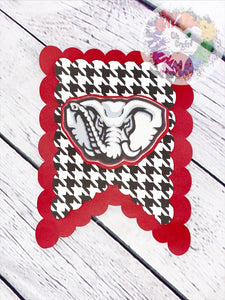 Alabama Crimson Tide Banner | Football Banner | Roll Tide Banner | Football BirthdayParty | Football Party Decor