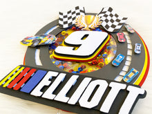 Load image into Gallery viewer, Nascar Cake Topper | Car Racing Birthday | Nascar Birthday | Cars Birthday Decor | Nascar Party Decor | Race Car Birthday