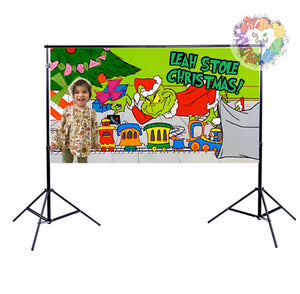 Grinchmas Backdrop | Personalized Photography Grinch Backdrop | The Grinch Who Stole Christmas Decor | The Grinch Birthday