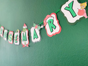 Grinchmas Banner | Christmas Banner | Grinch Birthday | Grinch Party | Grinch Party Decor |Grinch Party Supplies | Christmas Birthday