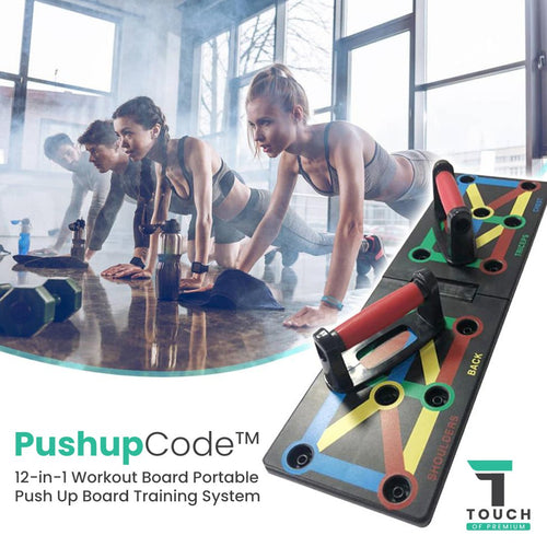 Push Up Board 12-in-1 Quadropress Portable Power Press Push Up Board Training System