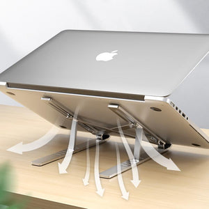 Ergonomic Laptop Stand - Adjustable Foldable Premium Aluminium Stand for upto 17 Inch Laptop