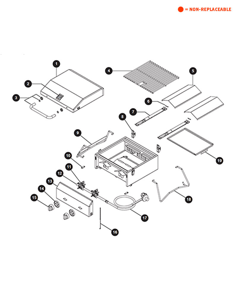 Replacement Grill Parts for Master Forge 820-0033