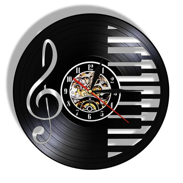 3D Vinyl Music Piano Notes Clock