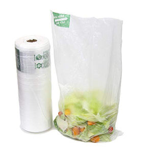 Large Plastic Produce Bag Roll, US Made HDPE