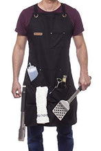 Load image into Gallery viewer, Professional Cooking Apron, Black Cotton