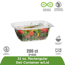 Load image into Gallery viewer, Eco-Products - Renewable & Compostable Rectangular Deli Containers - 32oz. - Case of 200 (EP-RC32)