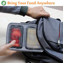 Load image into Gallery viewer, Enther Meal Prep Containers [20 Pack] 2 Compartment with Lids, Food Storage Bento Box | BPA Free | Stackable | Reusable Lunch Boxes, Microwave/Dishwasher/Freezer Safe, Portion Control (32 oz)…