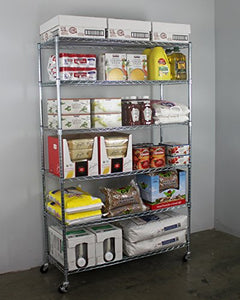 SafeRacks NSF 6-Tier Wire Shelving Rack