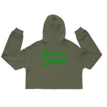 Load image into Gallery viewer, Powered by Plants Crop Hoodie