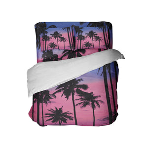 SURFER GIRL SURFER BEDDING PALM TREES COMFORTER SET