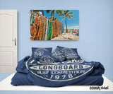 BLUE SURF COMFORTER SET NORTH SHORE HALEIWA, HAWAII EXTREMELY STOKED