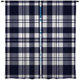 BLUE AND WHITE SURFER PLAID CURTAINS