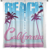 CALIFORNIA BEACH SURF GIRL CURTAINS