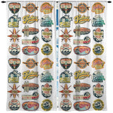 VINTAGE CALI SURF STICKERS CURTAINS