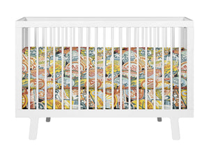CALIFORNIA SURF STICKERS BABY CRIB BEDDING SET