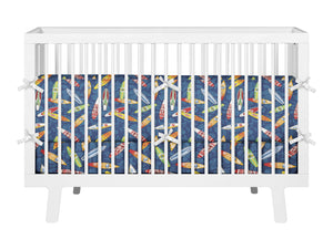 SURFBOARD BABY CRIB BEDDING SET FROM SURFER BEDDING