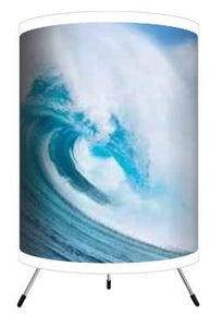 Extremely Stoked Ocean Wave Surf Tripod Lamp