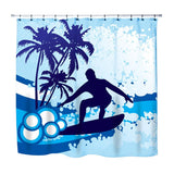 surfer shower curtain