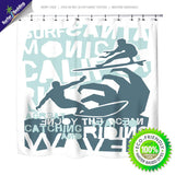 Surfing Cali Shower Curtain from Surfer Bedding