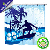 Surf's Up Shower Curtain from Surfer Bedding