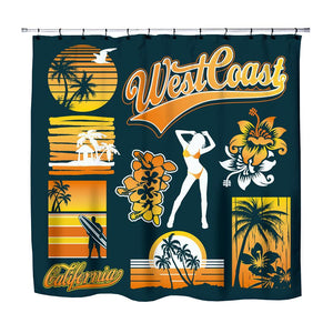 West Coast California Dreamin Surfer Shower Curtain