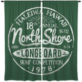 VINTAGE HALEIWA HAWAII NORTH SHORE WINDOW CURTAINS FROM SURFER BEDDING AT EXTREMELY STOKED