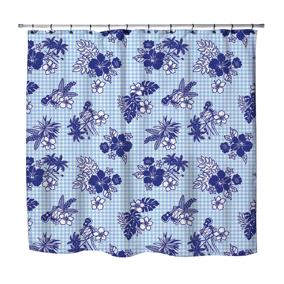 HAWAIIAN GINGHAM SHOWER CURTAIN