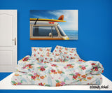 SURFER GIRL SURFBOARDS HAWAIIAN COMFORTER SET FROM EXTREMELY STOKED