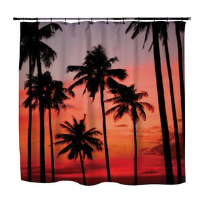 Palm Trees on the Beach Shower Curtain