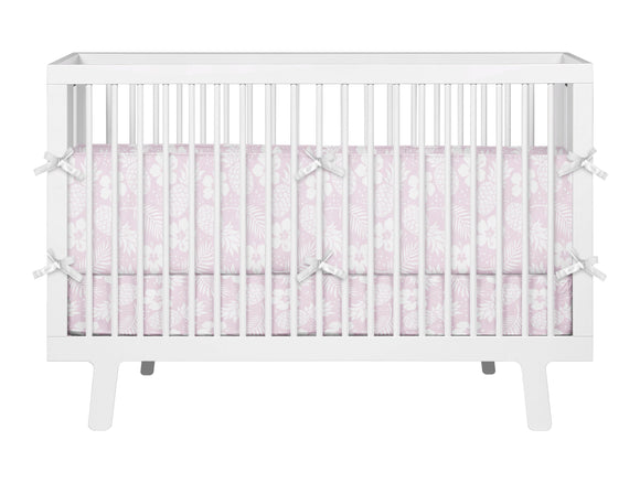 Pink Pineapples and Hibiscus Hawaiian Baby Bedding Set