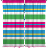COLORFUL BEACH STRIPES WINDOW CURTAINS