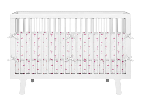 PINK FLAMINGOS BABY CRIB BEDDING SET