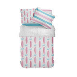 TWIN SIZE SURFER GIRL PINK SURFBOARDS COMFORTER SET
