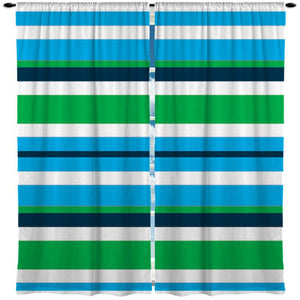 beach stripe window curtains