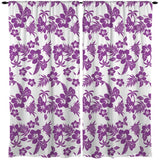 PURPLE HAWAIIAN WINDOW CURTAINS