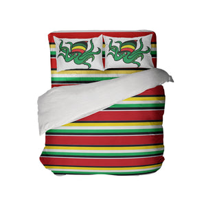 RASTA STRIPES COMFORTER SET WITH RASTA OCTOPUS PILLOWCASES FROM EXTREMELY STOKED