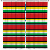 RASTA STRIPE WINDOW CURTAINS
